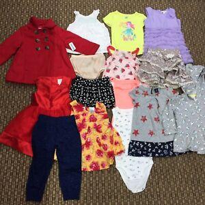 Lote Mixto 15 Piezas Bebe Nina 18 24 Meses Marca Ropa Vestidos Pantalones Carters Ebay