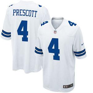 5fbb2ac999b NFL Dallas Cowboys Men's White Dak Prescott #4 Game Jersey, XXX ...