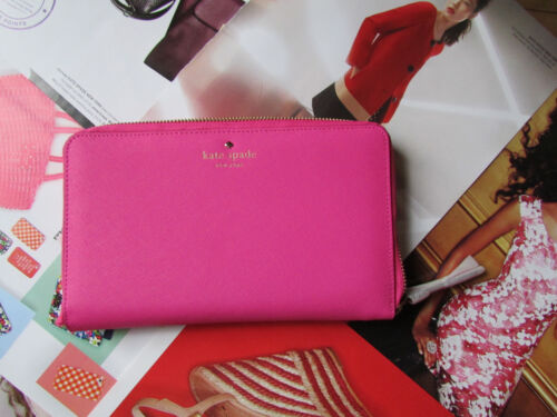 Kate Spade New York Wallet Travel Mikas Pond Bougainvillea NEW $228