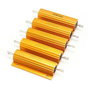 25-50-100W-0-01-5k-Ohm-Watt-Shell-Power-Aluminum-Housed-Case-Wirewound-Resistor