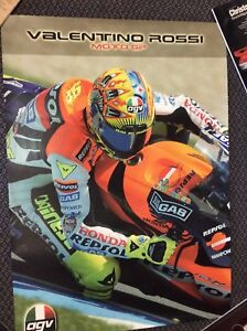 VALENTINO-ROSSI-ORIGINAL-AGV-MOTO-GP-POSTER-FROM-YEARS-AGO-MINT-CONDITION
