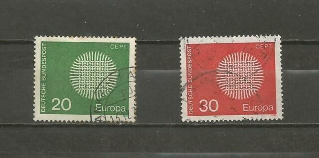 GERMANY-- 1970 EUROPA Stamps - USED SET.