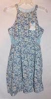Disney Girls Cinderella Collection Blue & Purple Floral Dress Size Medium 8 10