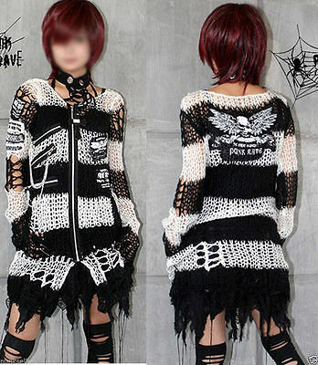 Fashion skull Mohair Sweater Punk RAVE Gothic lolita Top Shirt Cardigan M004W