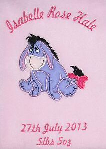 Disney-Eeyore-Luxury-Personalised-Applique-Super-Soft-Fleece-Blanket