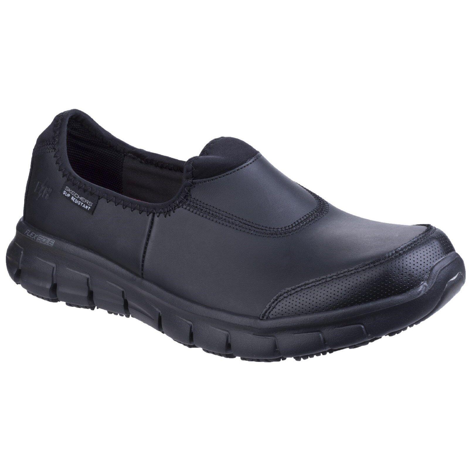 Skechers Sure Track SR Travail Baskets pour femme en mousse à mémoire à Enfiler Chaussures en cuir