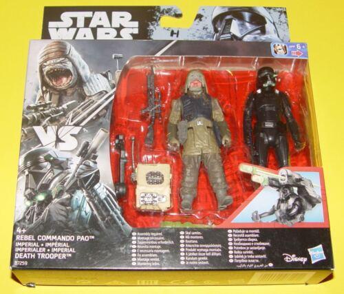 Death Trooper Hasbro b7259 Star Wars Rogue one-Rebel Commando pao vs