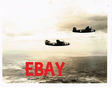 WWII RARE PHOTO USAAF B-24 LIBERATOR BOMBERS FLIGHT FORMATION TEST FLIGHTS ID'D