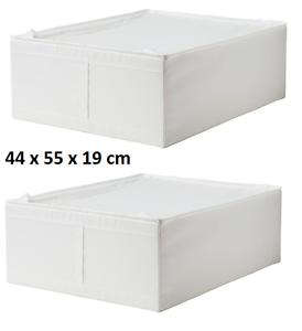 Ikea Scatole Guardaroba.Dettagli Su 2 X Ikea Skubb Custodia Contenitore Scatole Armadio Portaoggetti Bianco 44x55x19 Mostra Il Titolo Originale
