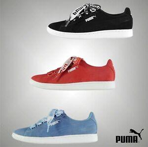Senoras-calzado-casual-Deportivo-Original-Puma-Vikky-Cinta-Con-Cordones-Zapatillas-Tamano-3-8