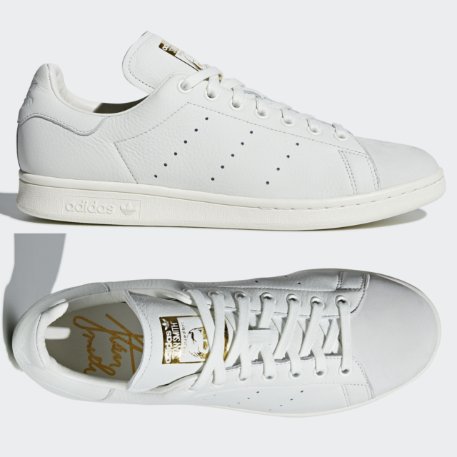 timeless design ac45f ccd73 adidas Originals Stan Smith Premium Trainers Leather White Gold B37900 SIZE  5-11
