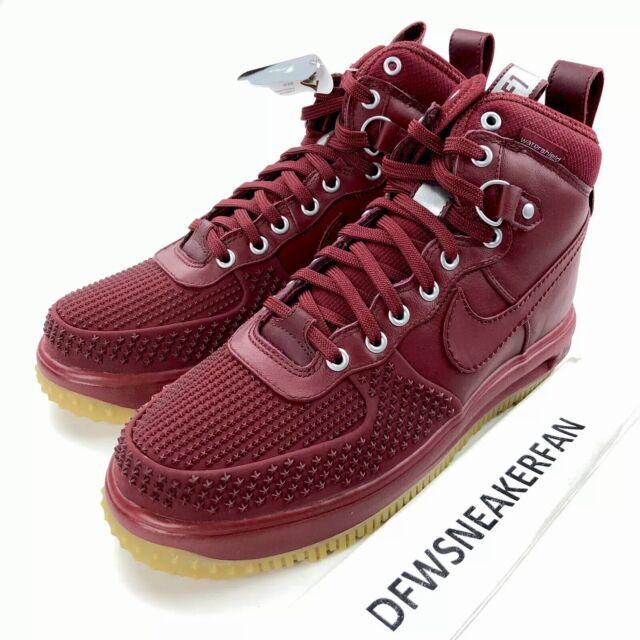 Nike Lunar Force 1 Duckboot Men's 9 Shoes Team Red Gum 805899 600 New