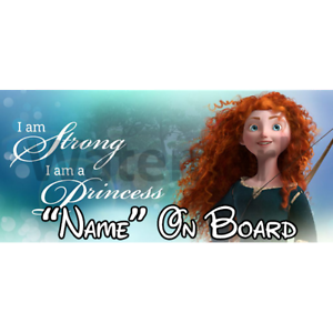 1 Disney Brave Personalised Baby On Board Car Sign