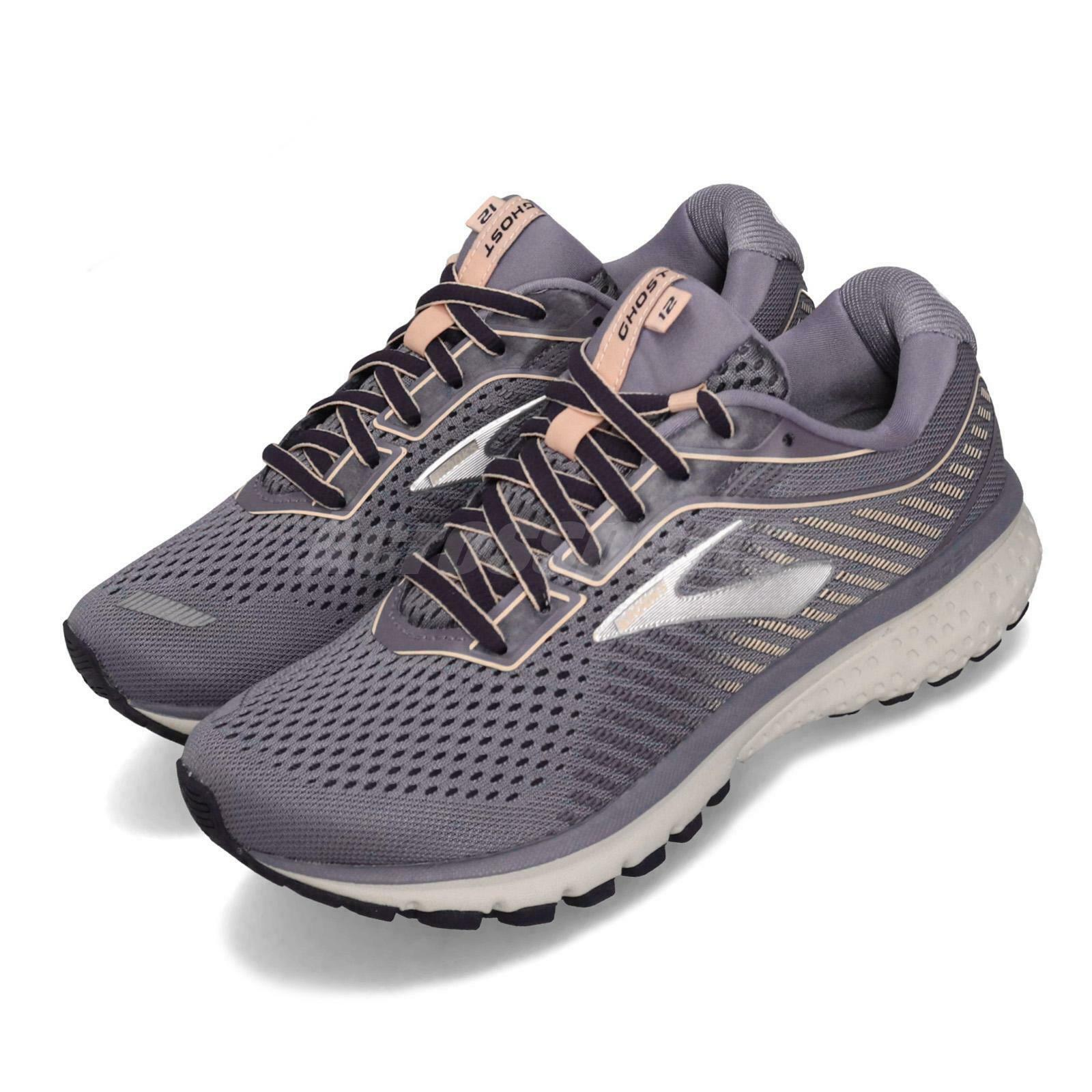 Brooks Ghost 12 Wide lila grau damen Running Training schuhe Turnschuhe 120305 1D