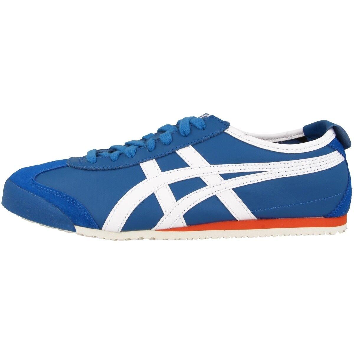 Asics Onitsuka Tiger méxico 66 zapatos zapatos zapatos retro cortos azul blanco d4j2l-4201  el mas de moda