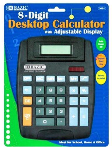 Large-Black-Desktop-Calculator-Tilting-8-Digit-Display-Office-Home-Business