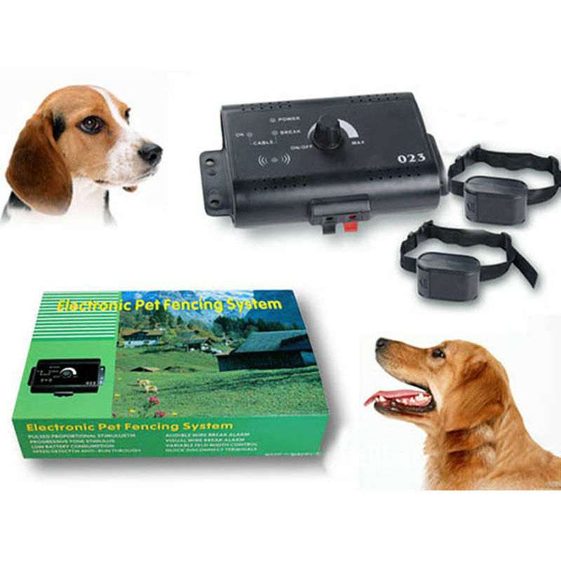 Electronic Fence Containment System  Waterproof  Collars In-Ground Dog PET 2type