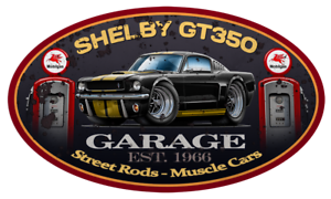 1966 Shelby GT350H Hertz Mustang Garage Sign Wall Art Graphic Sticker