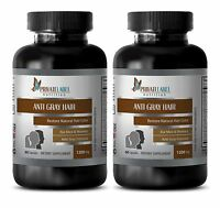 Horse Tail Hair - Anti Gray Hair Formula - Immune Support Therapy - 2 Bottles