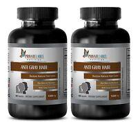 Vitamin B5 Powder - Anti Gray Hair Formula - Immune Support Natural - 2 Bottles
