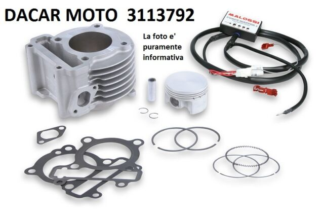 3113792 COMPLETE CYLINDER MALOSSI aluminium YAMAHA BW'S 125 ie 4T