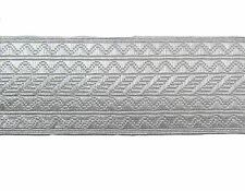 Cord Lace Piping Round Uniform Rank Braid Silver Mylar 4 mm Sold by Meter R1477