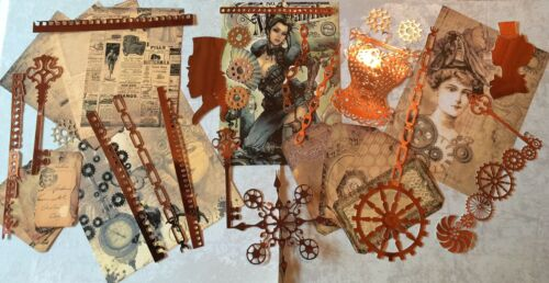 Craft clearout mix bundle joblot vintage # Lcog card toppers // paper die cuts