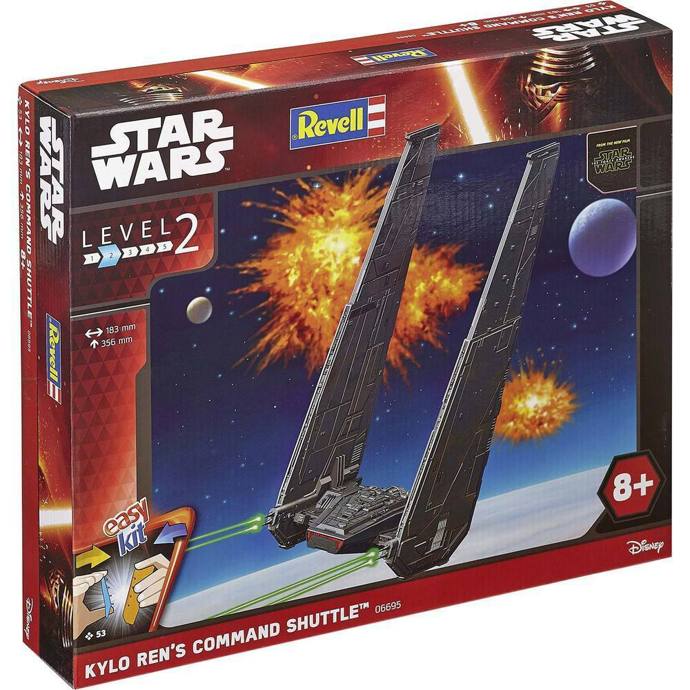 REVELL 06695 Star-Wars Kylo Ren's Command Shuttle- Level 2 EasyKit