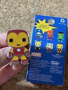 Iron Man CHASE- Disney Loungefly Marvel Avengers Funko Pop Mystery Blind Box Pin