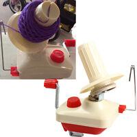 Hand-Operated Yarn Winder Fiber Wool String Thread Skein Ball Machine Clip Table