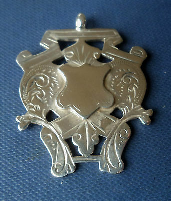 Victorian VERY LARGE Sterling Silver Medal / Fob  - h/m 1900  not engraved