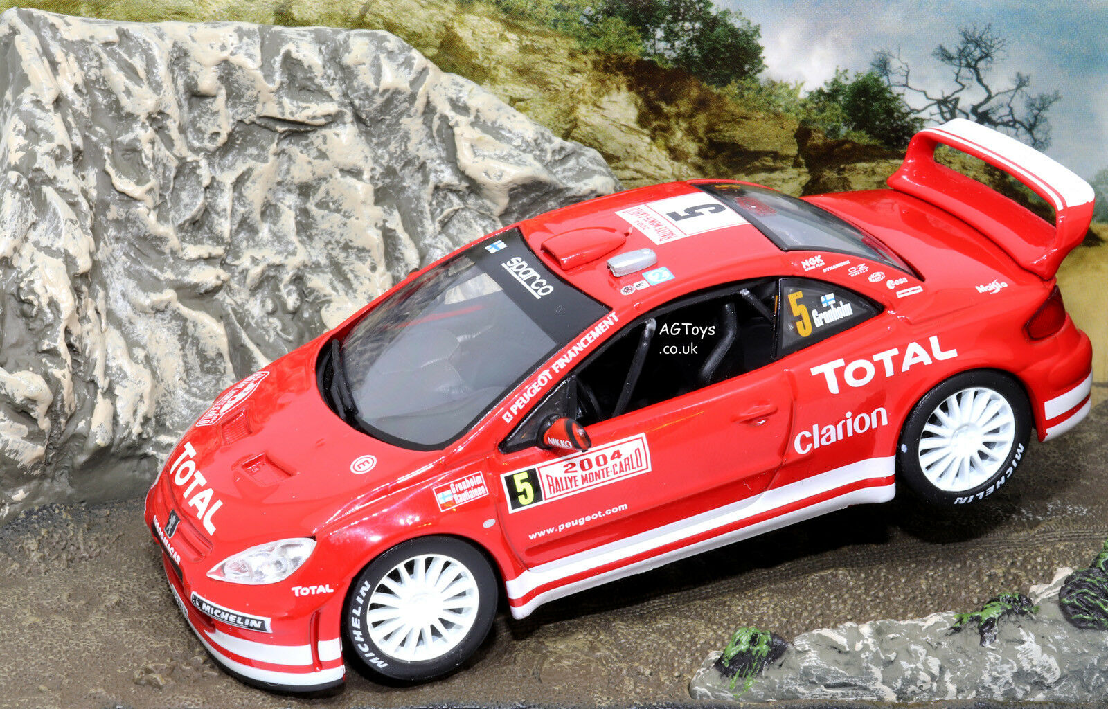 Rally Car Collection Peugeot 307 WRC Monte Carlo Rally 2004 Gronholm 1 43 Model