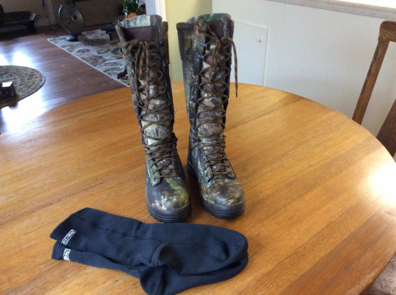 Cabelas Gore-Tex Camouflage bottes 7.5 W Homme Camouflage Chasse bottes High Top Lace Up
