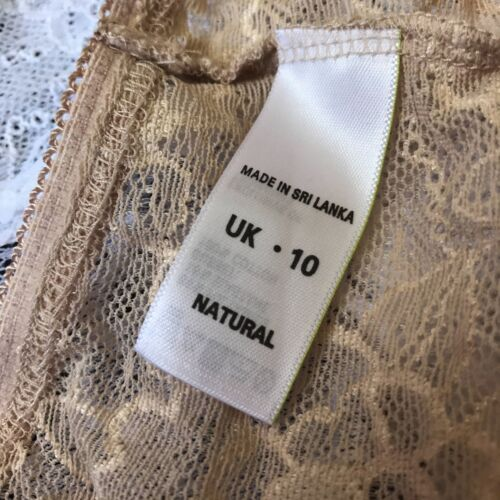 UK 6 10 12 Multipack 4x ex-M/&S Victoriana Lace Knickers//Pants NEW