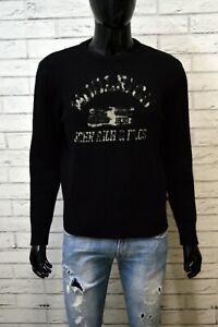 WOOLRICH-Maglione-Taglia-Size-M-Cardigan-Pullover-Lana-Uomo-Nero-Man-Sweater