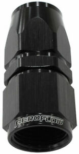 Aeroflow Alloy Straight Hose End -6AN - Black (AF201-06DBLK)