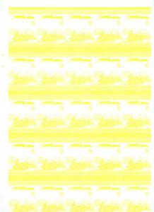 Railway-Locomotive-Imperf-Yellow-Proof-Sheet-Of-50-Pairs-S417