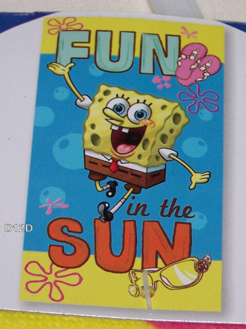 SpongeBob SquarePants Fun In Sun Printed Cotton Velour Beach Towel 70x150cm New