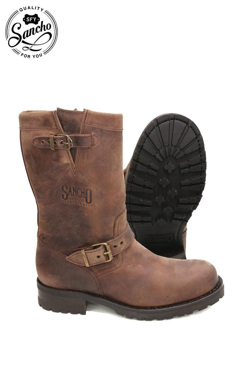 New Women Ladies SBNCHO Brown Leather Cowboy Mid Calf Cowboy boots UK Size 3 36