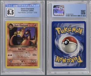 Pokémon Dark Charizard 21/82 CGC 8.5 NM/Mint+ 2000 Team Rocket Unlimited