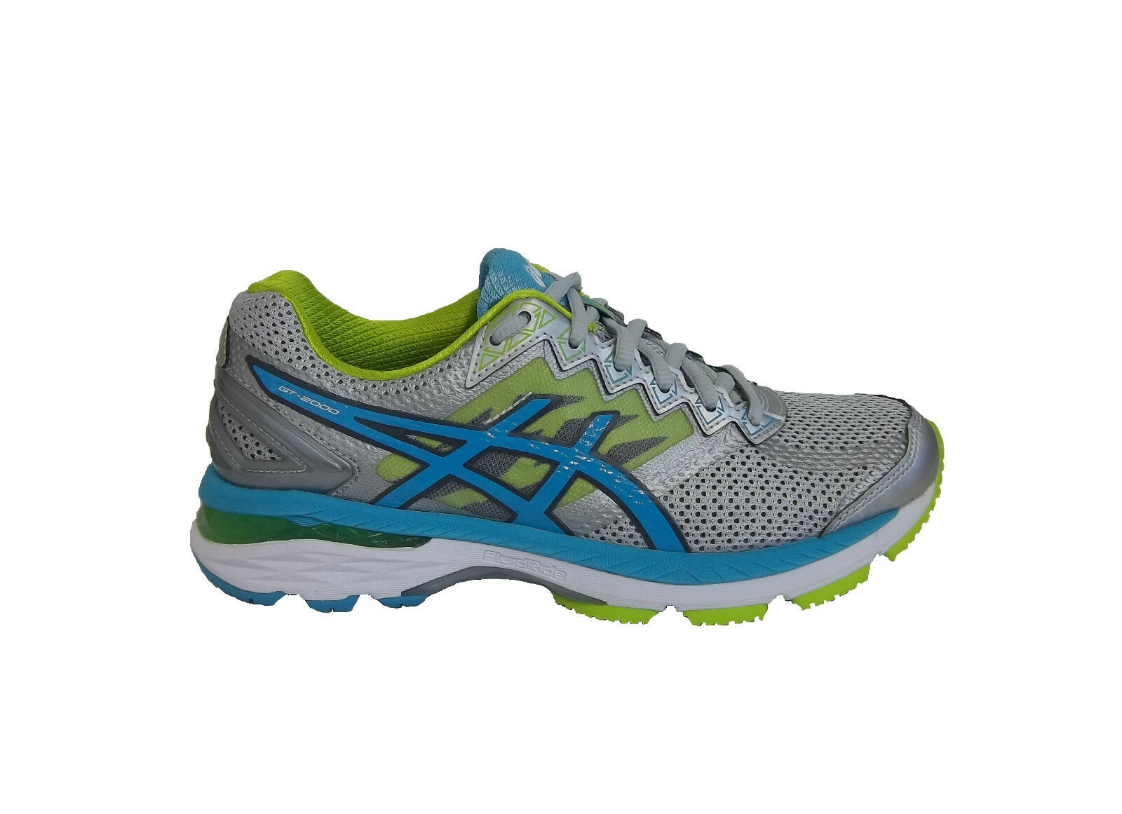 Asics Women's GT-2000 4 Running shoes Silver Silver Silver Turquoise Lime Punch 0240fb