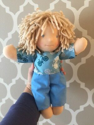 "Dolls Other Dolls Diplomatic New Waldorfdoll Inspired Waldorf Doll Boy By Wolpuppen ""dominiq"" 14"" Handmade Refreshment"