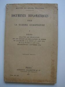 DOCUMENTS-DIPLOMATIQUES-1914-Tome-1-LA-GUERRE-EUROPEENNE-1915-MINISTERES