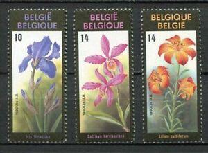 38479-BELGIUM-MNH-1990-Flower-3v