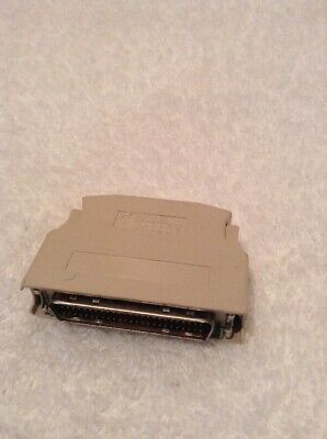 External SCSI Micro Centronics 50 Pin Male MC50M Active Terminator Adapter
