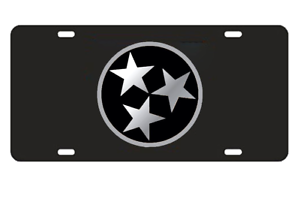 Craftique Tennessee Volunteers Mirror Tri-Star Laser Cut License Plate