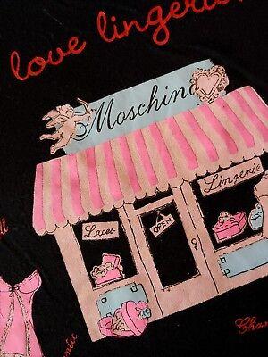 Abile T-shirt Woman Moschino Lingerie Made Italy Tg.48 Circa L Rare Il Consumo Regolare Di Tè Migliora La Salute
