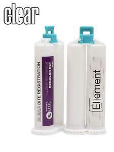 CLEAR-VPS-Bite-Registration-Material-REGULAR-SET-2-X-50ml-Cartridges-Dental-VS