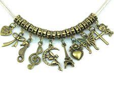 FreeShip 30pcs Mix Antique Bronze Dangle Charms Fit Bracelet ZY015