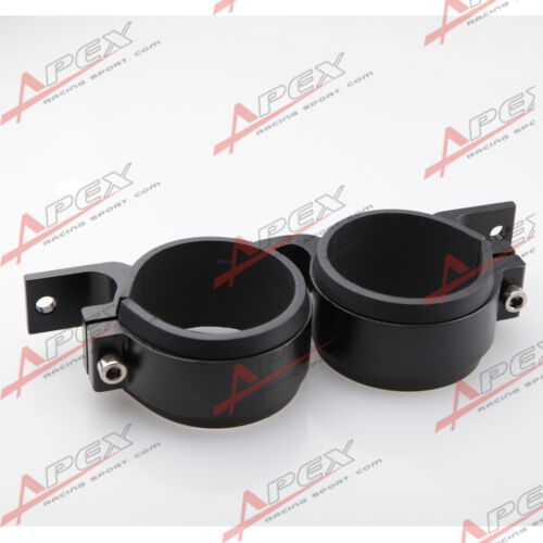 52mm ID Dual Double Billet Fuel Pump Filter Mounting Bracket Clamp Cradle Black